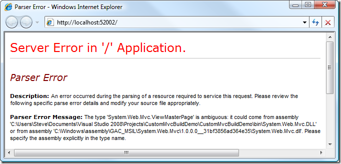 Using the ASP NET MVC source code to debug your app