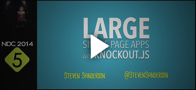 Architecting large Single Page Applications with Knockout.js