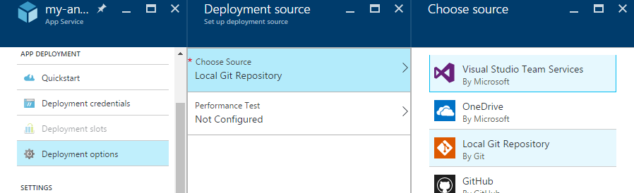 Azure deployment options