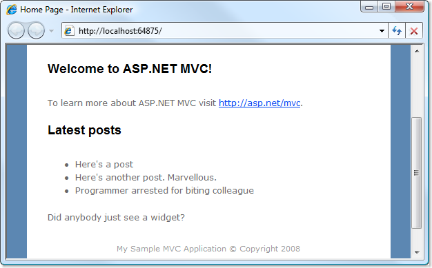 Partial Requests in ASP NET MVC
